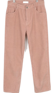 Nut corduroy pants