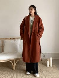 Double Button Overfit Wool Coat-ct