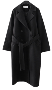 classic warm belt coat (2colors)