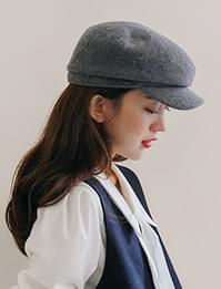 Wool news boy cap_H (size : one)