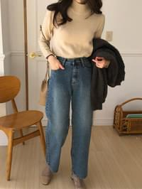 Normal Middle Blue Wide Pants