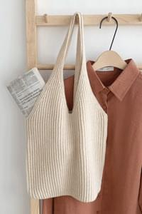 Bonnie Knit Bag-Light Beige
