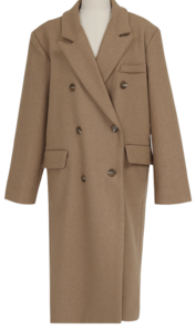 Lawren wool double coat_Y (size : free) 大衣外套