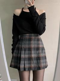 Vanilla Check Skirt Pants