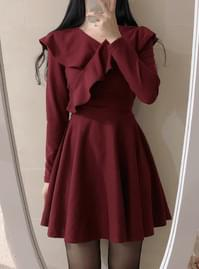 Laura brushed frill dress
