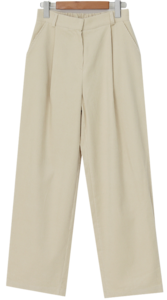 Corduroy one pintuck pants_U