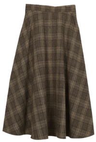 The check check wool wool skirt 裙子