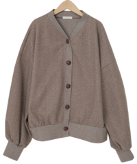 Herringbone loose button cardigan_U