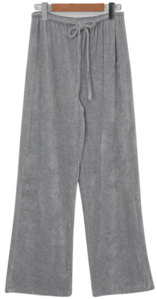 Easy velvet wide pants_A (size : free)
