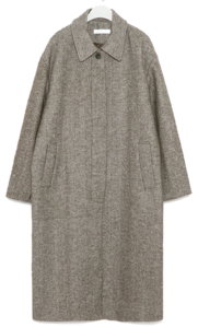kent herringbone wool long coat