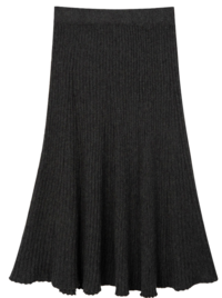 Daily accordion knit skirt