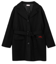 Heart Point Belt Coat