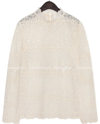 DRANCY LACE SEETHROUGH BLOUSE