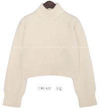 LOPETTI WOOL HIGH NECK CROP KNIT