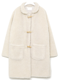 faux fur long duffle coat 大衣外套