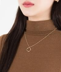 Moir simple necklace