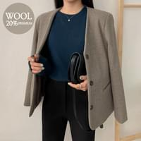 Modino collar wool jacket