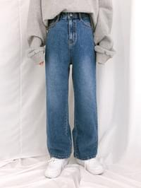 3901 wide denim pants