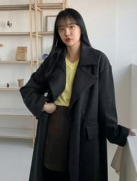 Formal Overfit Double Wool Coat