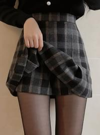 Cook check skirt pants