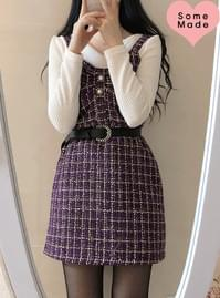 Self-made ♥ Loco tweed bustier dress