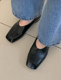 Line square toe shoes_J
