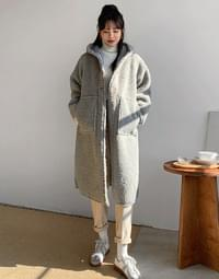 Fleece River Long Hooded Coat