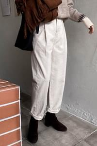 Bound Pin Tuck Wide Pants