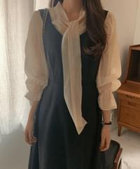 Heidel ribbon blouse