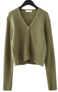 soft bold ribbed cardigan