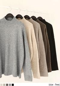ROUDI WOOL BOKASHI HALF NECK KNIT