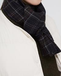 perfect wool check muffler