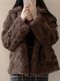 Mink collar fur jacket