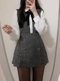 Individual progress ♥ Elsha tweed brooch bl + skirt pants