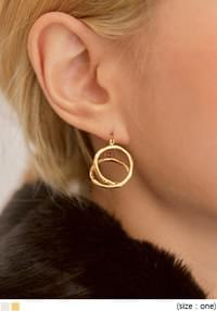 EDER TWIST CIRCLE EARRING
