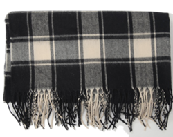 Season Check Wide Scarf