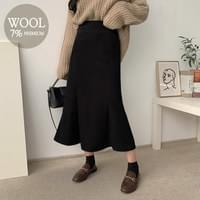 Musical Maid Wool Long Skirt