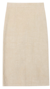 Corduroy long skirt