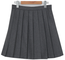 Warm pleat mini skirt_U