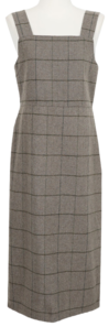 Norwegian check long dress