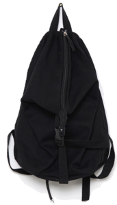 diagonal zipper line backpack
