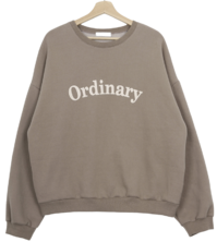 'Ordinary' brushed printing man-to-man