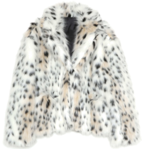 leopard fur jacket - woman