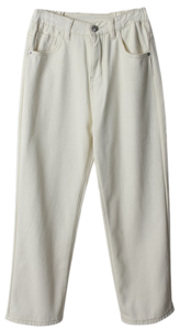 Junan mink brushed straight pants