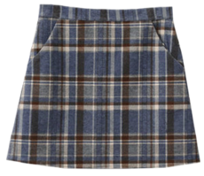 Have span check skirt 裙子