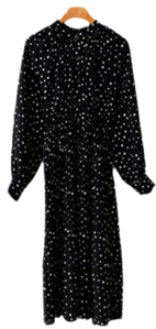 Wrinkle Dot Long Dress