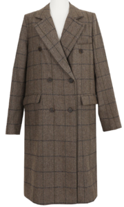 Mare Check Double Wool Long Coat 大衣外套