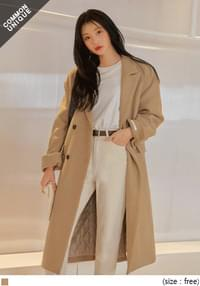 WOOL 50% DOUBLE LONG COAT
