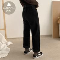 NEP wide brushed pants