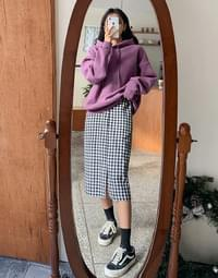 Checked Fleece-lined skirt